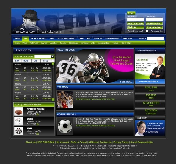 Custom Handicapping Website
