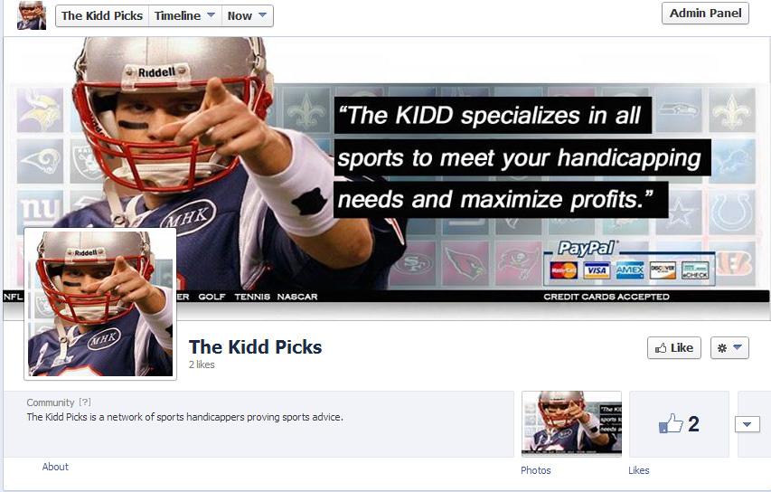Social Media Followers – Start a Handicapping Fan / Like Facebook page.