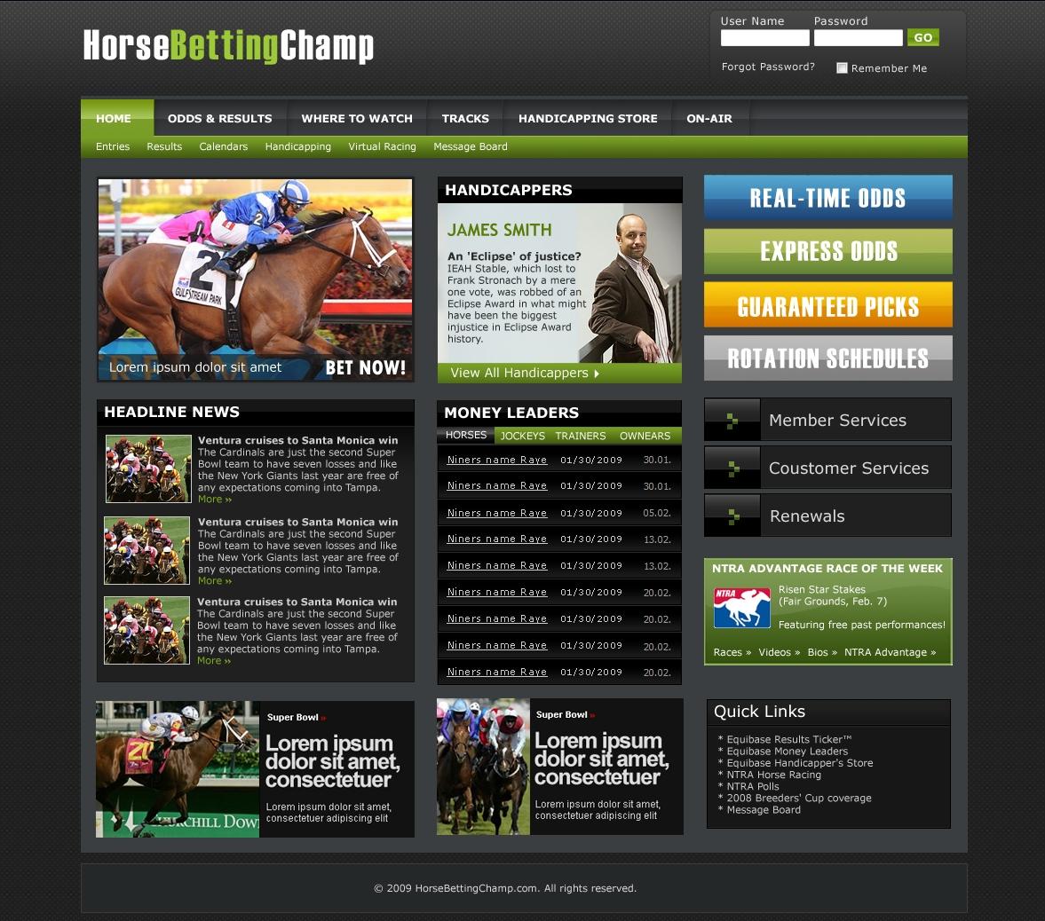 Horse betting website svartravn betting advice
