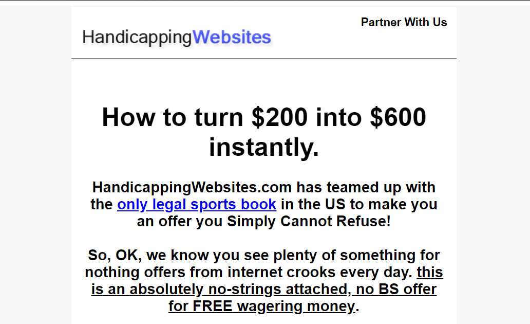 How to email market sports betting leads
