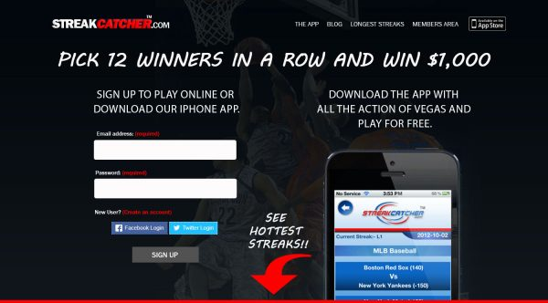 Sports Handicapping squeeze, landing, and funnel pages